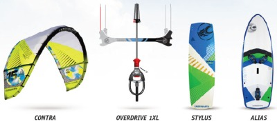 Collection of Contra Kite, Overdrive 1XL, Stylus and Alias