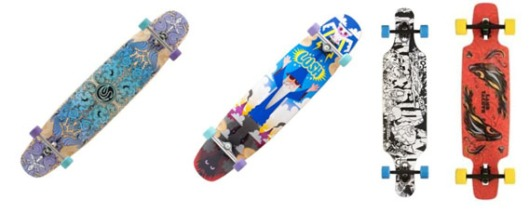 4 Different Longboards