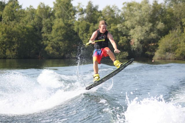 Wakeboard move in the air