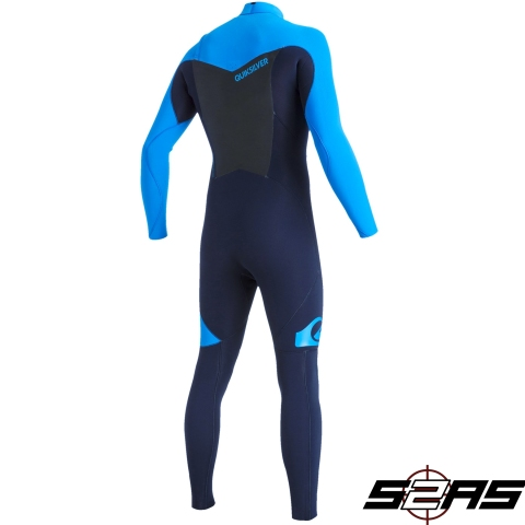 Quiksilver Syncro 3:2mm Chest-Zip Wetsuit back